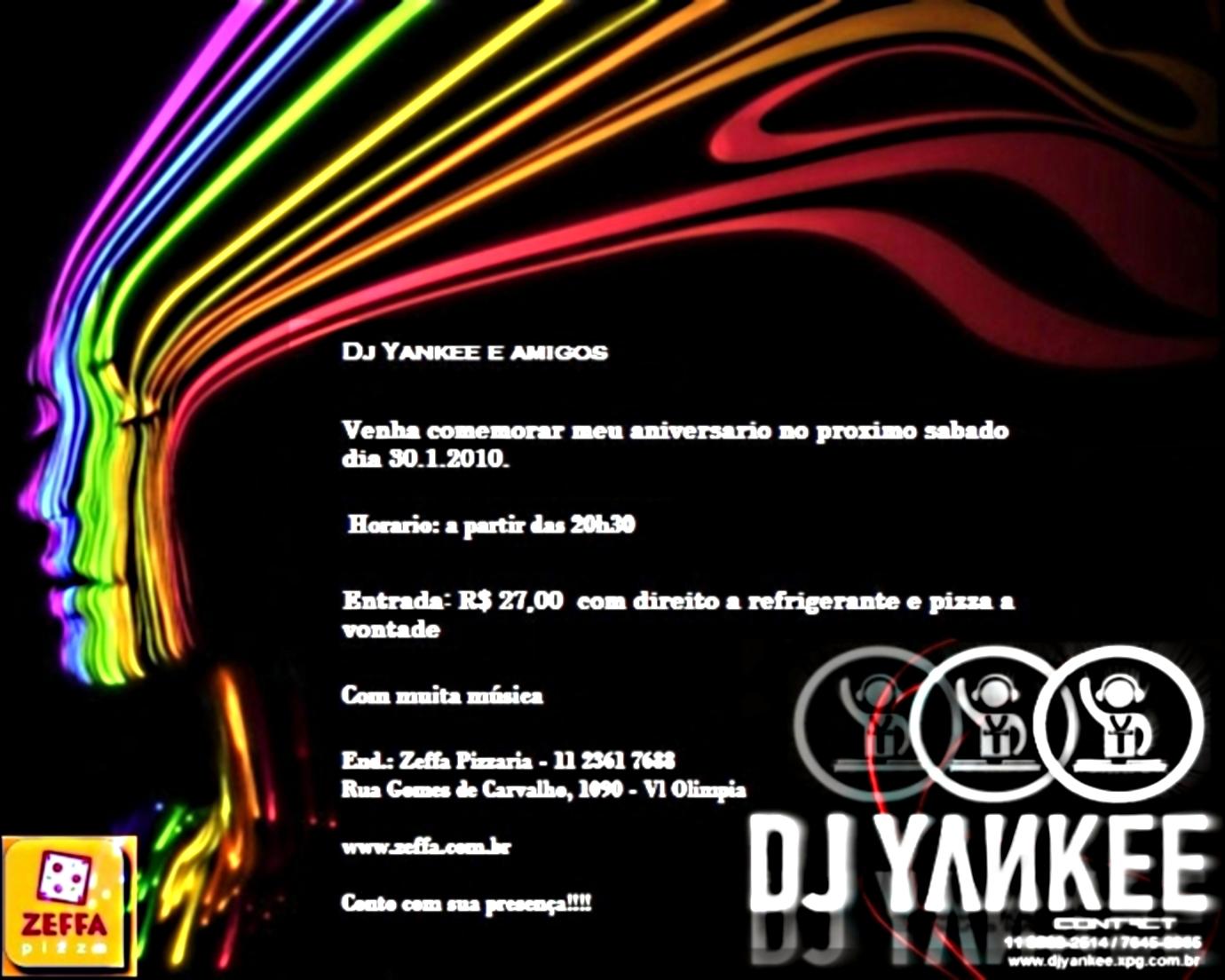 Super Flyer da Festa de Aniversário do Dj Yankee – Ecos Conteúdo TC33